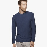 James Perse Spaced Jersey Contrast Stitch Crew