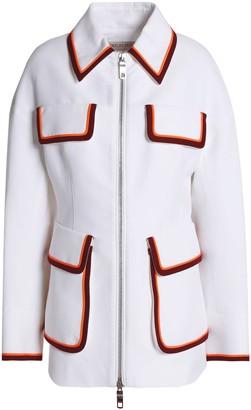 Emilio Pucci Striped Twill-paneled Cotton Jacket