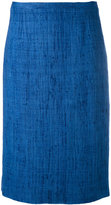 Kiton tweed straight skirt - women - Silk/Viscose - 48