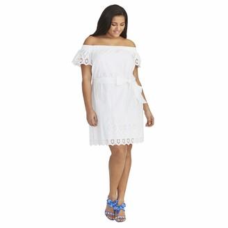 Rachel Roy Women's Plus Size ILENIA Off The Shoulder Dress
