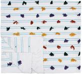 One Kings Lane Vintage Moroccan Berber Blanket w/ Blue Stripes