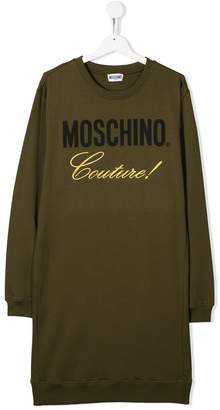 Moschino Kids TEEN Couture sweatshirt dress