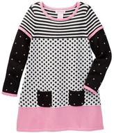 Design History 2-Fer Sweater Dress (Toddler & Little Girls)