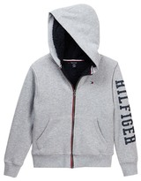 Tommy Hilfiger Faux Shearling Lined Hoodie (Big Boys)