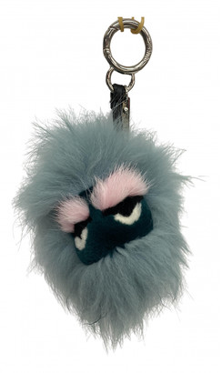 Fendi Green Fur Bag charms