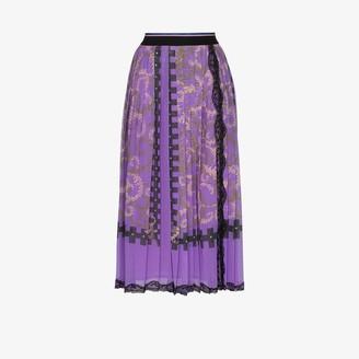 Emilio Pucci Printed Pleat Midi Skirt