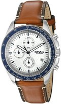 Fossil Men's 44mm Brown Leather Band Steel Case Quartz Dial Watch Ch3029