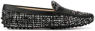 Tod's tweed Gommino driving loafers