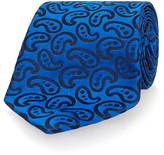Richard James Blue Paisley Woven Tie
