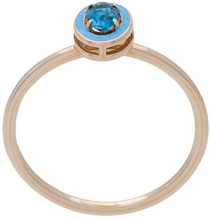 Alison Lou Dearest T topaz stacking ring