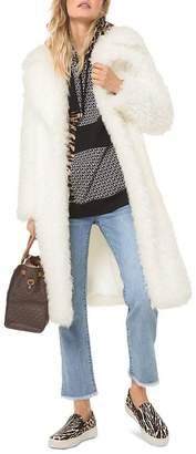 MICHAEL Michael Kors Faux-Fur Long Coat