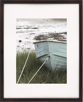 Tribeca Nielsen Artcare WD19AW Collection Walnut Archival Quality Wood Frame Matted to 11 by 14-Inch