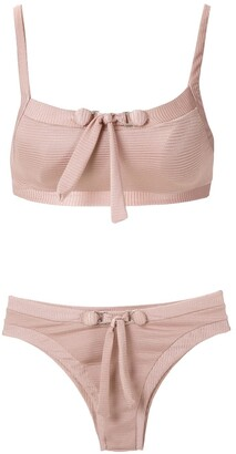 AMIR SLAMA Front Tie Detail Bikini Set
