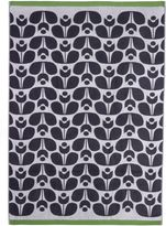 Orla Kiely Wallflower Jacquard Bath Sheet in Slate
