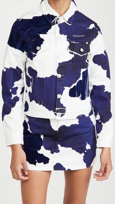 Off-White Long Cow Denim Jacket
