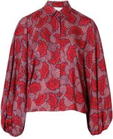 Alexis Nicolette Top Red Floral