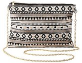 Charlotte Russe Tribal Woven Crossbody Bag