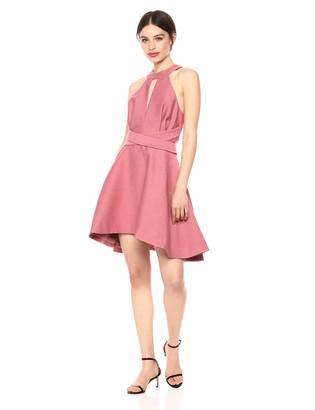 C/Meo Women's Sleeveless Halter Fit & Flare Short Party Dress