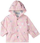 Hatley Polka Dot Hearts Raincoat (Baby) - Pink - 12-18 Months