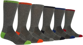 Chaps Men's 6-pack Marled Contrast Crew Socks