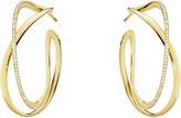 Georg Jensen Infinity 18ct yellow gold and diamond hoop earrings