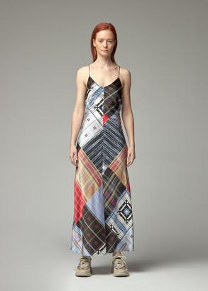 Ganni Women's Silk Stretch Satin Dress in Forever Blue Size 34