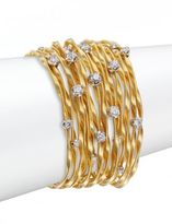 Marco Bicego Marrekech Diamond & 18K Yellow Gold Multi-Strand Bracelet