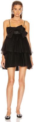 BROGNANO Tulle Mini Dress in Black | FWRD