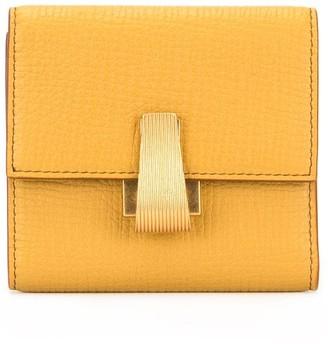 Bottega Veneta compact two tone wallet