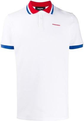 DSQUARED2 Logo Print Polo Shirt