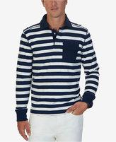 Nautica Men's Big & Tall Striped Long-Sleeve Polo