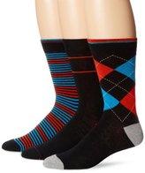 Ben Sherman Men's 3 Pack Albert Crew Socks, Red, One Size