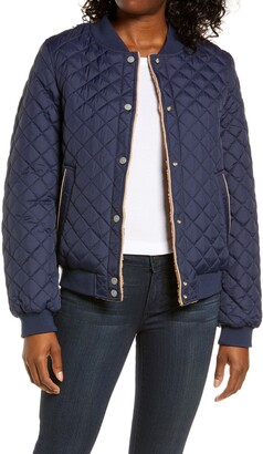 UGG Reversible Quilted & Faux Shearling Bomber Jacket