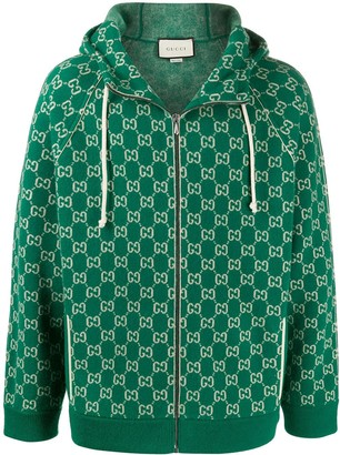 Gucci Double G zipped hoodie