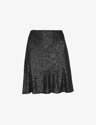 Whistles Carly sequin mini skirt