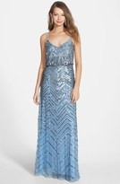 Cross Back Sequin Blouson Gown