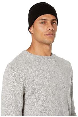 UGG Fine Gauge Cuff Hat (Black) Beanies