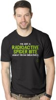 Crazy Dog T-shirts Crazy Dog Tshirts One Radioactive Spider Bite Away T Shirt Funny Superhero Tee