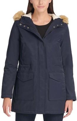 Levi's Women's Faux-Fur Trim Hood Parka Jacket