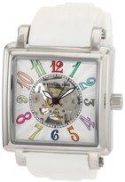Stuhrling Original Women's 149GL.121P2 Vogue Ozzie Sport Automatic Skeleton Silver Dial Watch Set