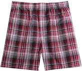 Pau1Hami1ton Men's Cotton Woven Boxer Brief Tartan Plaid Cover Waistband Underwear Men(#,L)