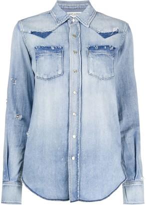 Saint Laurent western style buttoned shirt