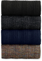Johnston & Murphy Wool Ribbed Slack-Length Socks