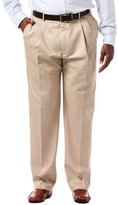 Haggar Work to Weekend Original Khakis - Original Fit, Pleated Front, Hidden Expandable Waistband