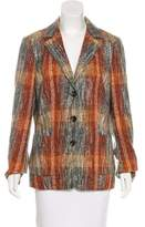 Rena Lange Patterned Woven Blazer