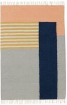 ferm LIVING Kelim Rug - White Lines - 140x200 cm