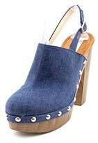 INC International Concepts Ashmee Open Toe Leather Platform Heel.