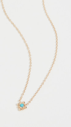 Zoë Chicco 14k Gold Tiny Bead Starburst Necklace