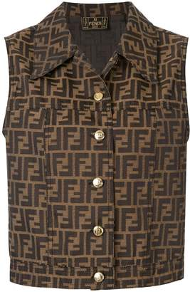 Zucca pattern buttoned waistcoat