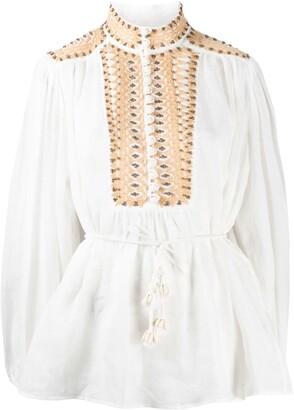 Zimmermann Brighton beaded blouse